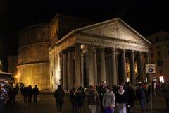 People around Piazza della Rotonda in Roma Stock Photo