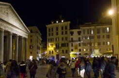 People around Piazza della Rotonda in Roma Royalty Free Stock Image