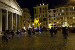 People around Piazza della Rotonda in Roma Stock Photos
