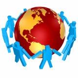 People around world Stock Image