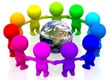 People around the world. 3D illustration, 3D rendering vector illustration