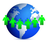 People around the world illustration Stock Photo