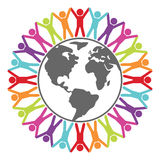 People around the world, vector  Stock Photography