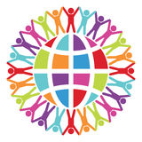 People around the world, peace or travel concept, vector  Stock Photo