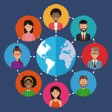 People around the world Stock Image