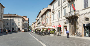 People in Arringhi's Square in Ascoli - IT Royalty Free Stock Image