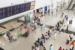 People at the arrival hall of an airport Royalty Free Stock Photo