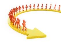 People on arrow Stock Image