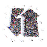People arrow direction 3d Royalty Free Stock Images