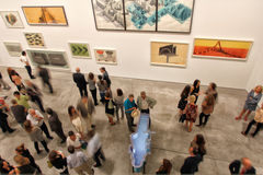 People on art exhibit Royalty Free Stock Images