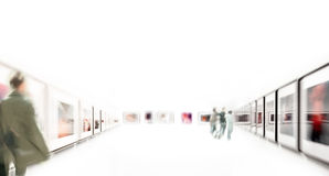 People at an art expedition. People at an arts expedition Royalty Free Stock Photos