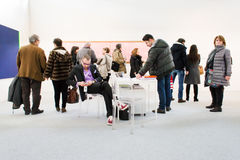 People in an art fair Stock Images