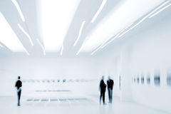 People in the art gallery center Royalty Free Stock Image