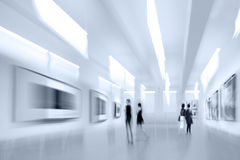 People in the art gallery center Royalty Free Stock Images
