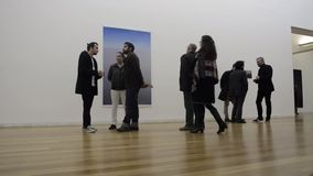 People in art gallery Royalty Free Stock Photography