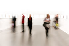People in arts exhibition Stock Images