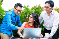 People of asian creative or advertising agency Royalty Free Stock Photo