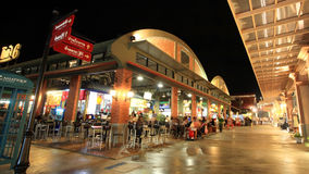 People at Asiatique The Riverfront  outdoor cantene Royalty Free Stock Images