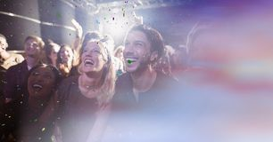 Free People At Concert With Transition Royalty Free Stock Photos - 103800538