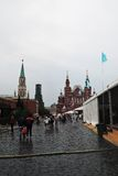 People attend Books of Russia fair. MOSCOW - JUNE 28, 2015: People attend Books of Russia fair.  Book fair on the Red Square in Moscow Royalty Free Stock Images