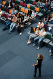 People attend Digital Marketing Conference in big hall Royalty Free Stock Images