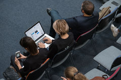 People attend Digital Marketing Conference in big hall Stock Images
