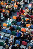 People attend Digital Marketing Conference in big hall Stock Photo