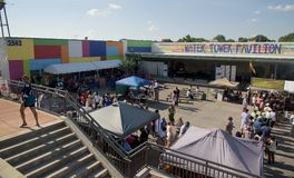 People Attend The Memphis Caribbean Jerk Festival, Memphis Tennessee Stock Images