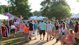 People Attend The Memphis Italian Festival, Memphis Tennessee Stock Photo