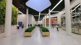 People attend Skolkovo Campus stock video footage