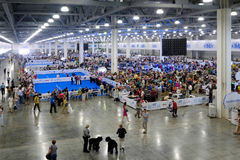 People attend World Dog Show Stock Photography