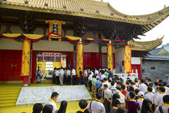 People attended ceremony at  Confucius temple Stock Photography