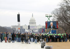 People attending the Inauguration of Donald Trump Stock Photos