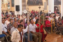 People attending mass in Mexico Royalty Free Stock Photography