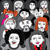 People in the audience cinema vector Royalty Free Stock Photos