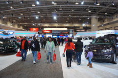 People at the Auto Show Royalty Free Stock Images
