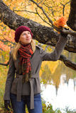 People: Autumn dreaming Stock Photography