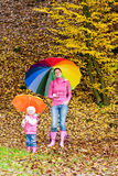People in autumnal nature Royalty Free Stock Photos