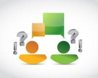 People avatar communication illustration Stock Photos