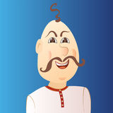 People avatar cossack with forelock, mustache. Stock Photo