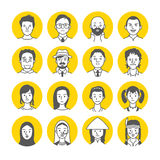 People Avatar Face icons Stock Image
