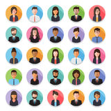 People avatar icon. Set of diverse working people, businessman and businesswoman avatar icons. Flat design people characters Royalty Free Illustration