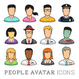 People Avatar Icons stock illustration