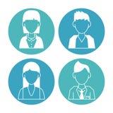 People avatar icons. Icon vector illustration graphic design vector illustration