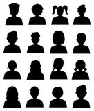 People avatar icons set Stock Images