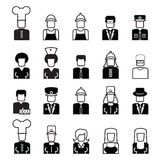 People avatar line icons Royalty Free Stock Photography