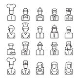 People avatar line icons vector illustration