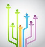 People avatar network connection. illustration. Design over a white background Stock Photo