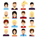 People avatar set Royalty Free Stock Photos