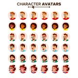 People Avatar Set Vector. Man, Woman. Circle Pictogram. Expressive Picture. Human Emotions. Stylish Image. Icon. People Avatar Set Vector. Man, Woman. User Stock Photography